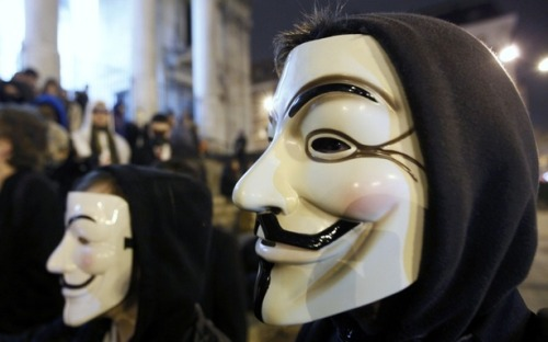 theatlantic:  Anonymous Hacks FBI Conference Call About Anonymous, Boston Police Web Site  The hackers at Anonymous promised a big release of hacked information on Friday, and at least part of it is a recording of FBI agents on a conference call with Scotland Yard talking about their mutual investigation into Anonymous. A released audio recording contains about 16 minutes of agents chatting about what evidence they've got on already-arrested hackers. Read more. [Image: Reuters]