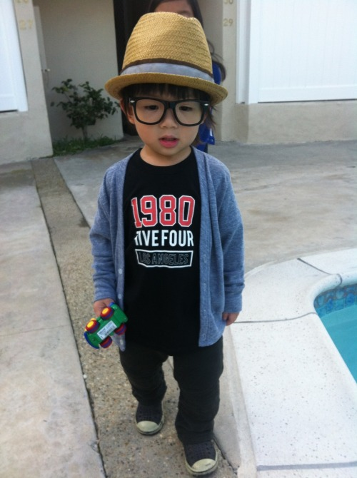 childrenwithswag:  Submission from lsdfashionlab  My nephew chillin by the pool #briankeanu #booboo Via #tangphotograhy