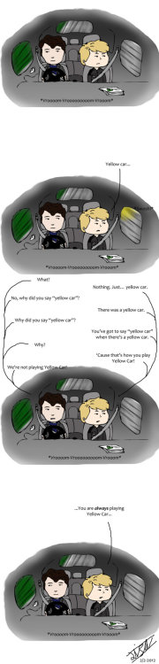 "WT Pt2: The Car-pt1 by ~Sirbestonen Part 2 in the ""Wishful Thinking""-series(""SIWLTSIFSOS"" or ""Stuff I Would Like To See In Future Seasons Of Sherlock"" was a bit too long).This is the first part of many comics that will take place in a car, so I named it ""part 2"".All the text in this comic is not mine, it's from the episode ""Ottery St Mary"" of the radio comedy series ""Cabin Pressure"" by John Finnemore, starring Benedict Cumberbatch. So I don't own any of it."