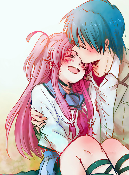 otakulei:  Credits  Totally me and eddie if our hair were pink and blue :P