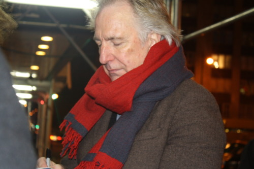 sonnet394tobrandon:  wheelu:  ALAN RICKMAN. Bad photo.  Any photo with Alan in it is NOT a bad photo. :) A cozy picture, actually! You got that right!!!!!!!!!!!!! no pic of him is a bad one!!!!!!!!!!!!!!;)