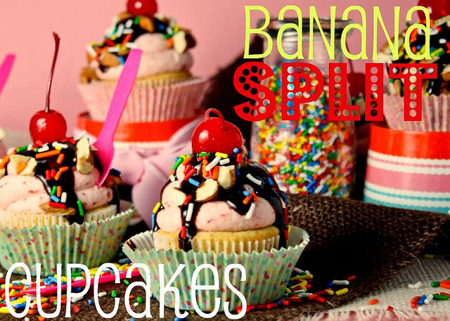 gastrogirl:  banana split cupcakes.  How can I get this inside me.