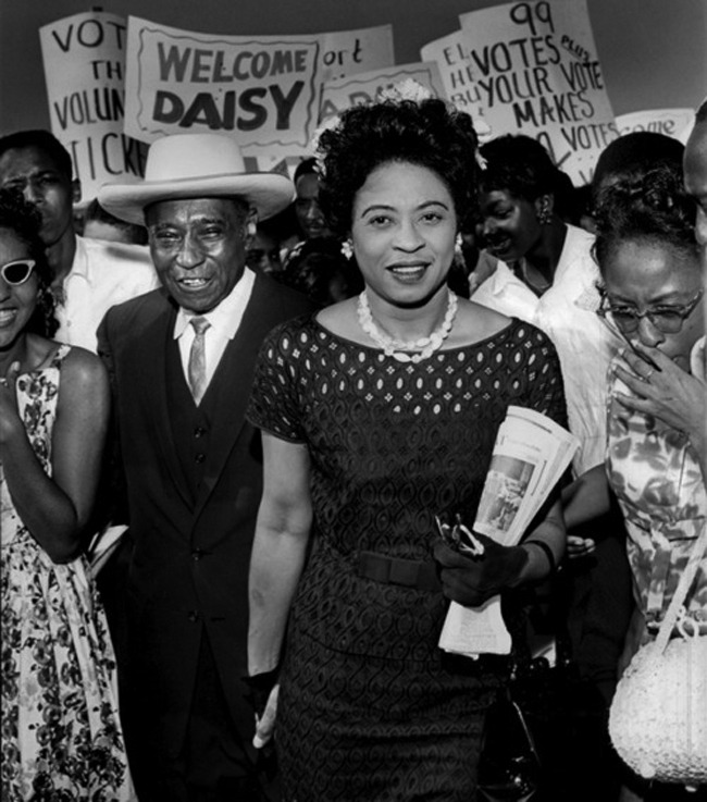 "Daisy Bates (1914 - 1999) The driving force behind Daisy Bates activism was the rape and murder of her mother by three white men. Her mothers body was found by some young men who were fishing on the lake where the body was tossed. Just over 50 years ago, a rock shattered the picture window of a light-brick house in Little Rock, Ark. A note was tied to it that read: ""Stone this time. Dynamite next."" The house belonged to Daisy and L.C. Bates. The couple led efforts to end segregation in Arkansas — on buses, in libraries and in the public schools. On Monday, the nation will mark 50 years since black students integrated Central High School in Little Rock. ""Mrs. Bates was the person for the moment,"" says Annie Abrams, a friend of Daisy Bates who was one of many black residents active at the time of the crisis. ""Daisy Bates was the poster child of black resistance. She was a quarterback, the coach. We were the players,"" says Ernest Green, one of the Little Rock Nine, the group of students who integrated Central High School. ""She was conditioned to know that the civil rights movement was moving forward,"" Sybil Jordan Hampton, one of the first African American students to graduate from Central High, says. Daisy Bates helped drive the movement in Little Rock."