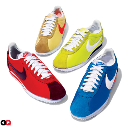Back in Style: The Nike Cortez We've been aggressively lobbying for Nike to properly revitalize one of our favorite OG sneakers, the Cortez, for years, and now—to pay homage to the shoe's fortieth anniversary—they've finally done it. (You're welcome, world.) The Cortez was once the most advanced running shoe on the market; now it's a perfectly nostalgic sneaker for the street. We think the freshest way to wear a pair is with a suit that can use a kick of color. See more of our favorite sneakers here.