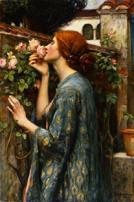 enyou:  The Soul of the Rose, John William Waterhouse.