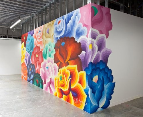 yayeveryday:  Bouquet by Jet Martinez. My favorite mural at Facebook HQ.