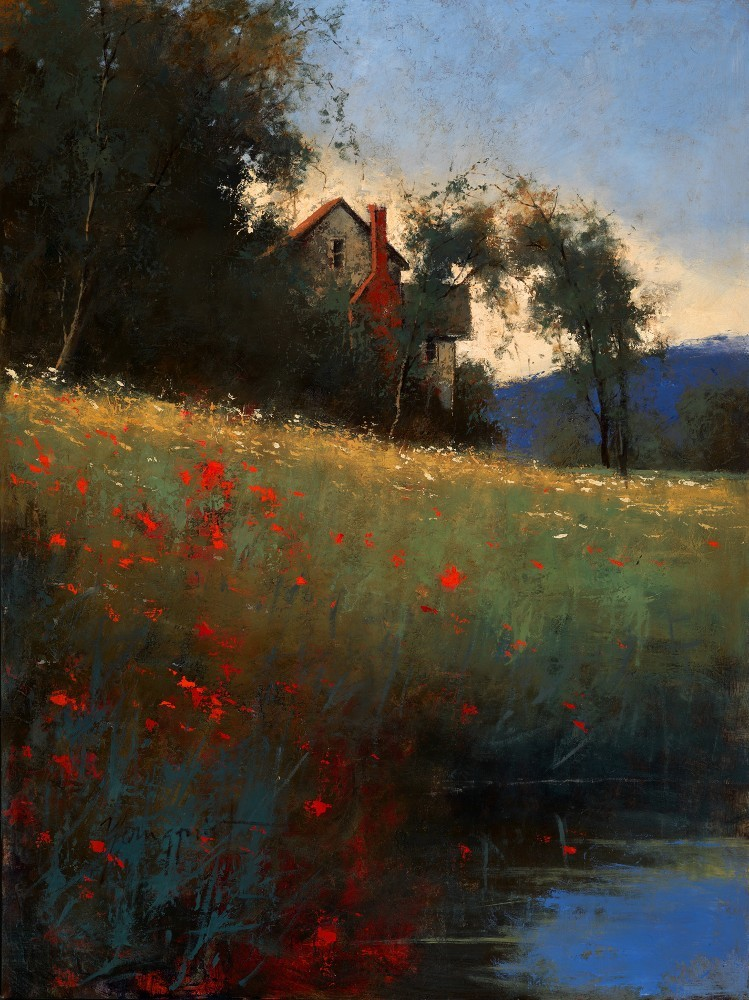 "wasbella102:  ""Serenity Creek"" by Romona Youngquist"
