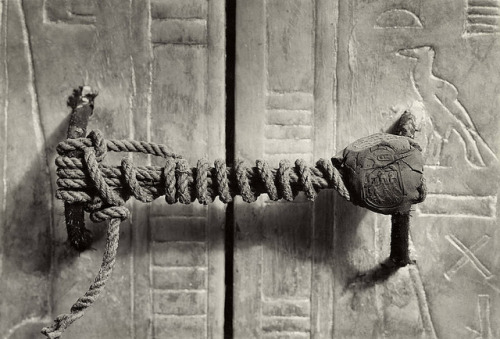 Unbroken Seal on the Third Shrine of Tutankhamun, 1924, by Harry Burton