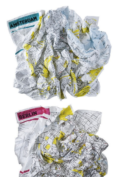szymon:  Crumpled city map by Emanuele Pizzolorusso  Today marks the beginning of mapping out our cities