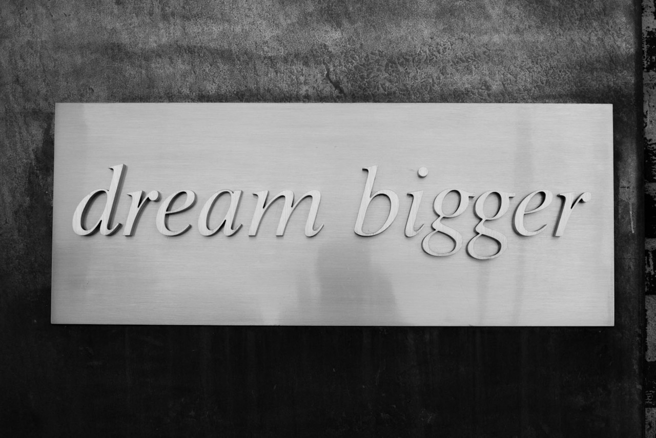 terrysdiary:  dream bigger