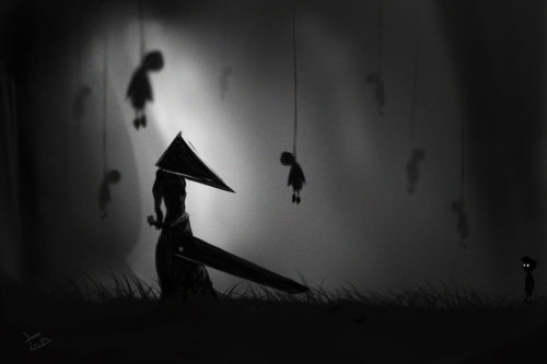 svalts:  Pyramid Head in Limbo - by Z0h3
