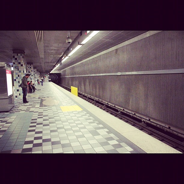 My Metro Station, Hollywood/Western and yes I ride the Metro (Taken with instagram)