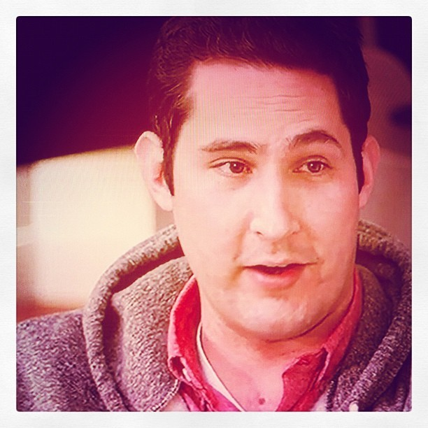 "Instagram founder Kevin Systrom on ""Foundation"" podcast- I'm instagramming the founder of instagram while he is talking about the creation of instagram- (Taken with instagram)"