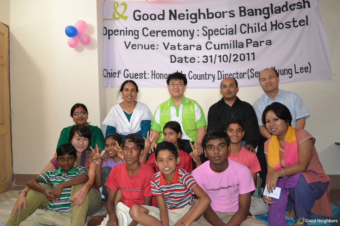 goodneighborsusa:  Spotlight Photo: This past October, the staff at Good Neighbors Bangladesh celebrated the opening of a child hostel center to give impoverished kids a home. Instead of living on the streets, these kids now have a place to sleep, meals to eat, and they're attending school.
