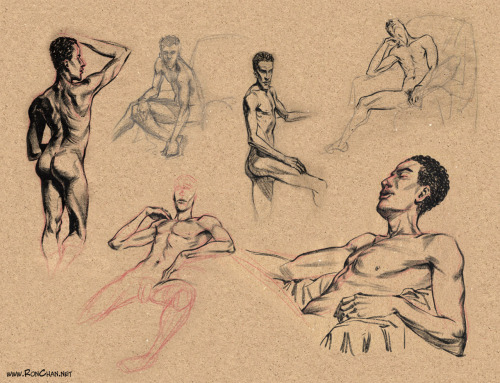 @RonDanChan posts his recent life drawings!