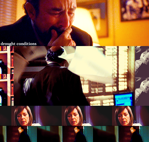 "notabadday:  The West Wing - Drought Conditions, 6x16 as requested by harriethayes ""Why the hell didn't you come to me before you picked Santos? Do you have any idea how strong a force we would have been had we taken on a candidate together?!"""