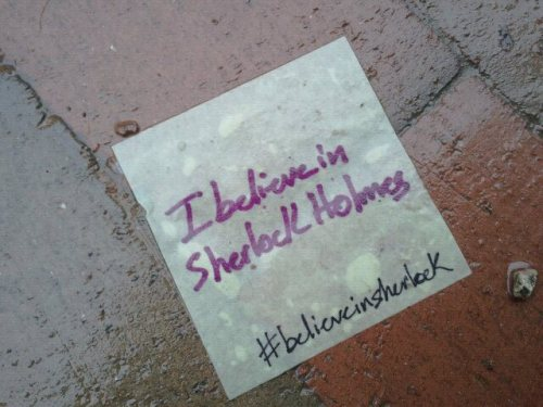 believeinsherlock:  Seeing this on the ground made my rainy day sunny last week when I was walking down Middle Street in Portland, Maine. Upload delayed because I have no internet. IF YOU ARE RESPONSIBLE FOR THIS AND OTHER MAINETASTIC STATEMENTS OF SHERLOCKIAN BELIEF WHICH I HAVE SEEN - PLEASE MAKE SWEET LOVE TO ME I mean, contact me so I can get involved!