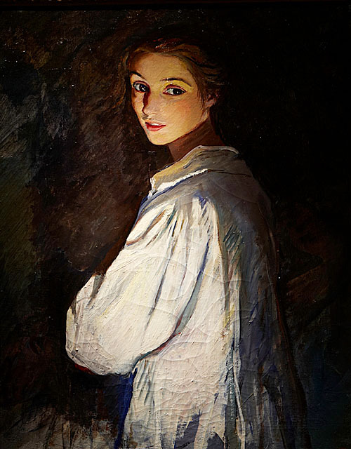 poboh:  Girl with a candle, Self-Portrait, 1911, Zinaida Serebryakova. Russian (1884 - 1967)