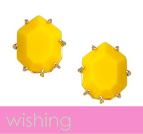 Wishing for these yellow studs from Kendra Scott.
