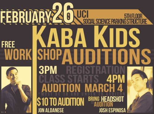 fuckyeahfilipinocuties:  Kaba kids (kreative movement) auditions coming up ! COME OUT & SUPPORT ! (: & help spread the word ^__^