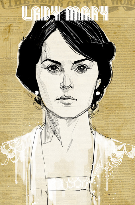turner-d-century:  philnoto:  Lady Mary Crawley  Downton Abbey fanart by Phil Noto.