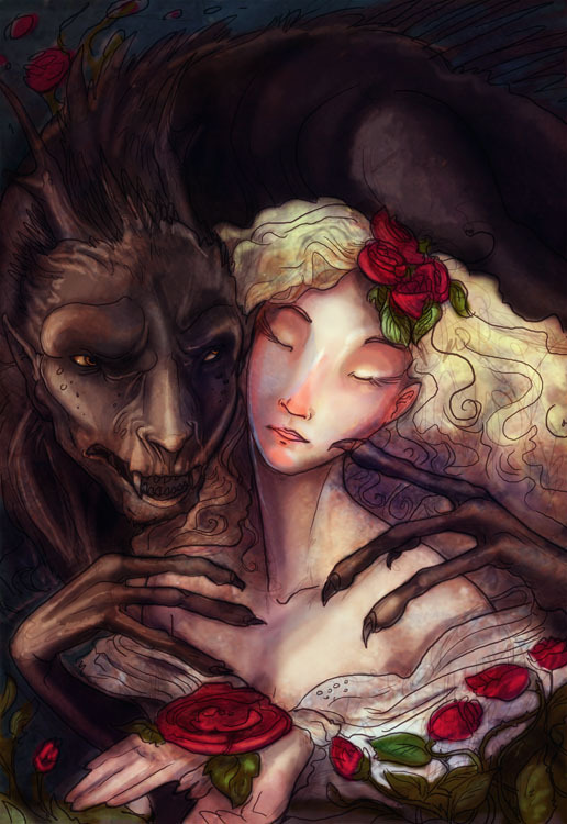 "fairytalemood:  ""Beauty and the Beast"" by zirofax"