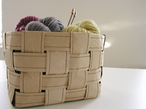 crafty-licious:  sewing 101: recycled paper basket | Design*Sponge  will make