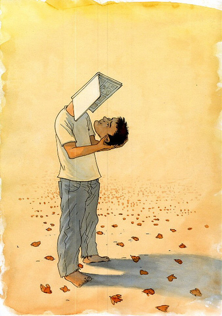 Being self reader read / Lector autoleyéndose (autor desconocido)