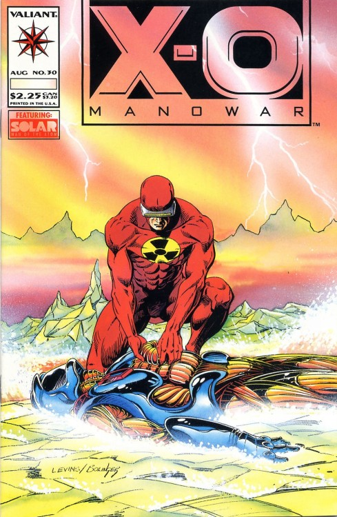 X-O Manowar #30, August 1994, cover by Rik Levins and Kathryn Bolinger