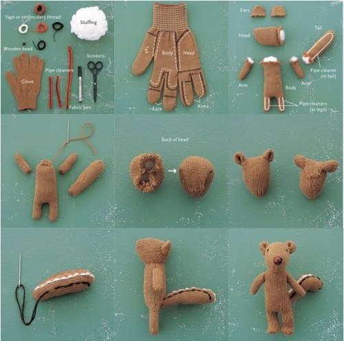 compassrose:  how to make a glove squirrel