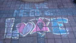jennisnotahomesteader:  Chalk drawings at occupy oakland