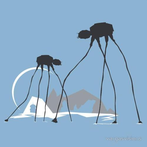 beyond-starwars:  Fun with Surrealism - by Vargas Visions Shirts available at Redbubble Website || Facebook (via: tiefighters)