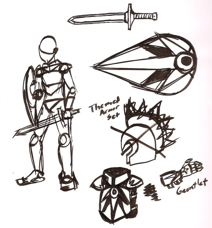 Some basic sketches of armor that the guards and knights of my prince character might wear if I ever draw him with them. Maybe I'll get around to it in the future.