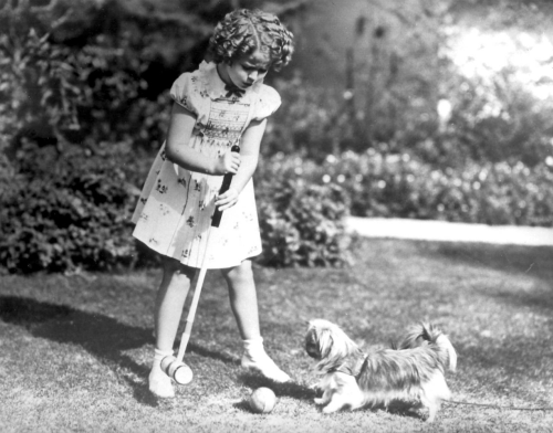 miss-shirley-temple:  Shirley Temple playing Croquet, 1930s.