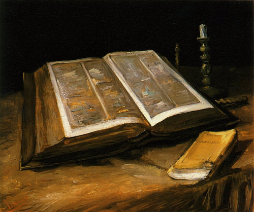 artmagnifique:  VINCENT VAN GOGH. Still Life with Bible, 1885, oil on canvas.