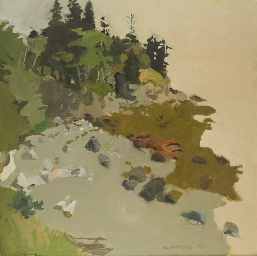 cavetocanvas:  Fairfield Porter, The Edge in Morning, 1961