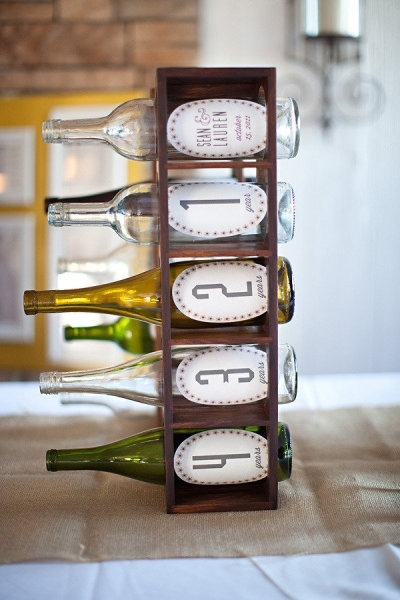 """Guestbook alternative, place your well-wishes into the bottles to be read on  future anniversaries"""