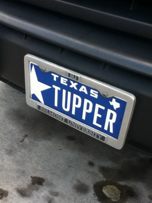 Saw this license plate today.  Taz+Up 5eva man.