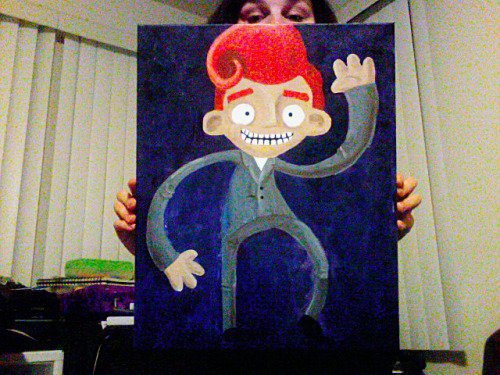 Here is an acrylic painting of Conan O'Brien for your viewing pleasure. 16x20 I may possibly sell this… I'm not sure. I'm starting to get attached.
