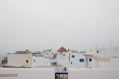 A city of white and blue