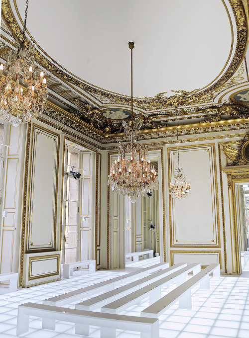 The venue for Balenciaga Fall 2010, the Hotel Crillon in Paris