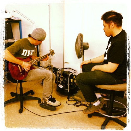 thatandrewkim:  Interdepartmental Jam Session with Pat and @onetimephotos  (Taken with instagram)
