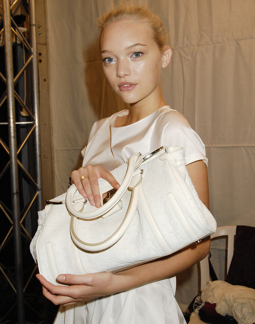 Gemma Ward backstage at Celine Spring 2008