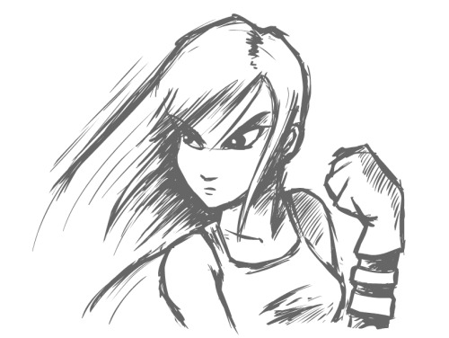 Learnin' as I go. Quick Tifa fanart before bed. This Cintiq is pretty great.