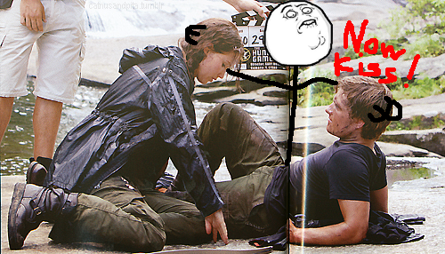 um…where is katniss looking?