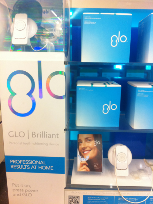 Glo personal teeth whitening device