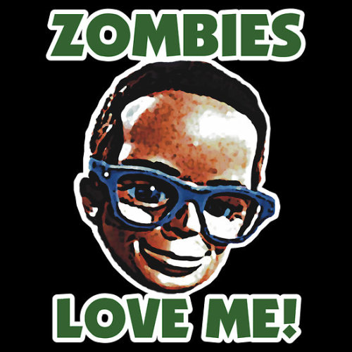 Zombies Love Brains t-shirt by Adam de la Mare All the attention from Zombies has made Brains from The Thunderbirds a bit bigheaded!