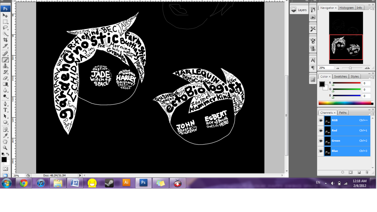 some typography based homestuck art i'm working on. still needs color, but this is the direction so far. :)