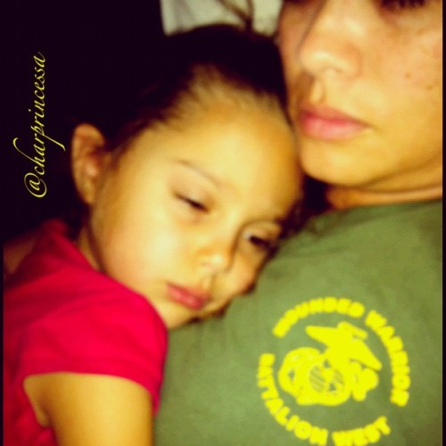 Me & my mini-me napping. Nothing cures a stressful week like cuddles. #hawaii #usmc #iphoneonly #igers #ig #instagramer #iphone4 #808 #hnl #instamania  (Taken with Instagram at Ford Island)