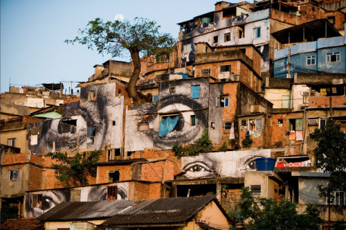 slumscape: favela art in Rio by artist JR